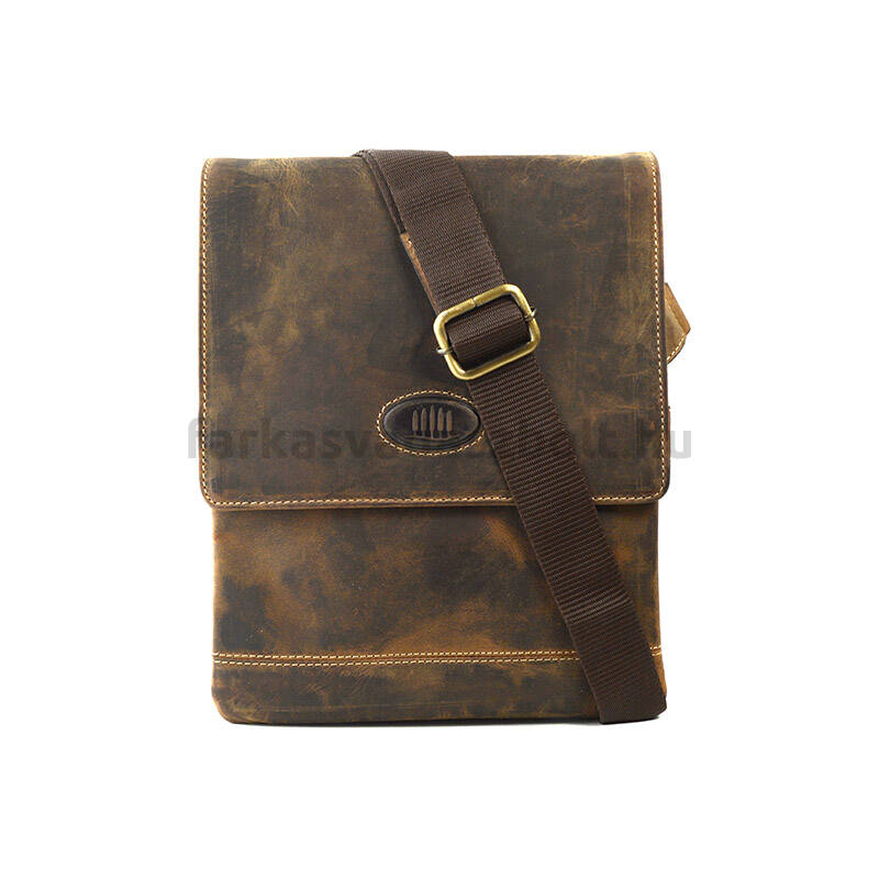 Férfi táska, bőr, oldaltáska, osztott zsebbel, Giorgio Carelli