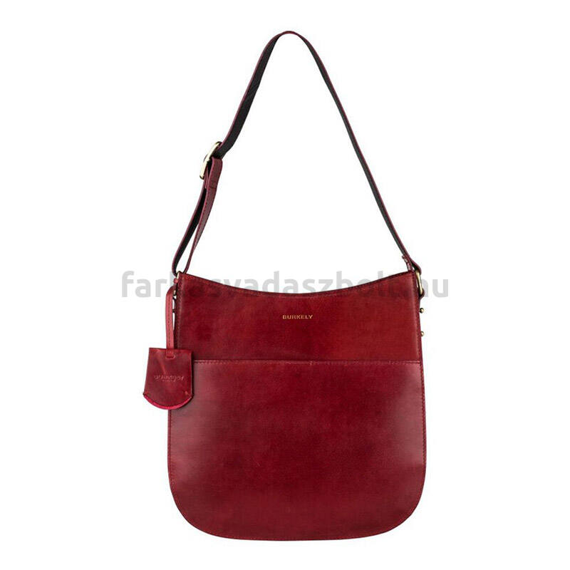 Női táska, válltáska, bőr, cseresznye bordó, Burkely EDGY EDEN